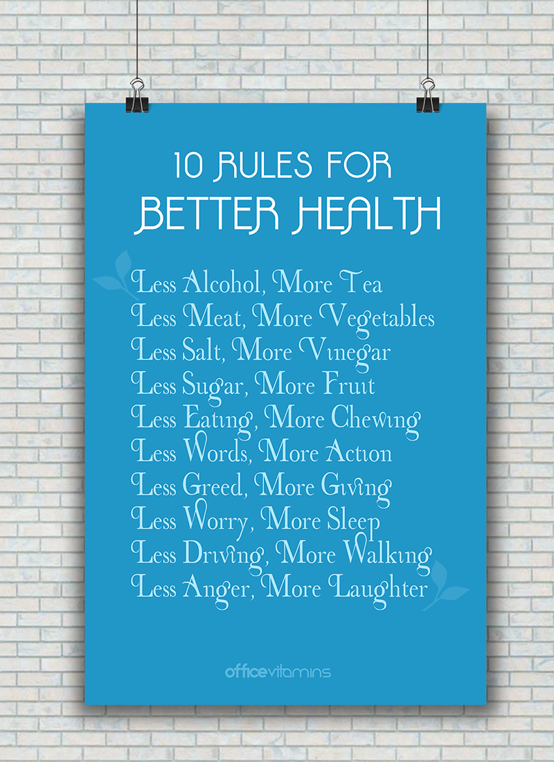 10 Rules For Better Health